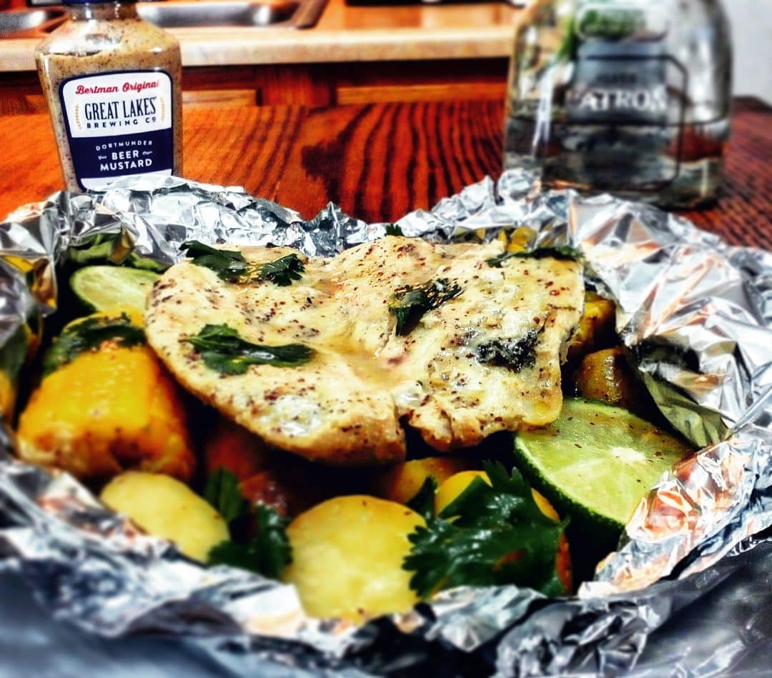Tequila and Lime Chicken Campfire Dinner