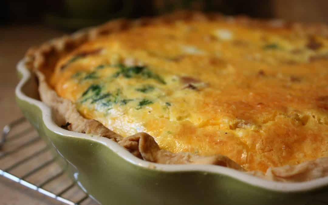 Leek and Ballpark Mustard Pie