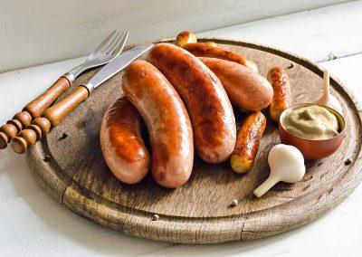 Bratwurst with Bertman Mustard Horseradish