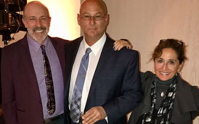 Bertman CEO Michael Mintz and Indians Manager Terry Francona at Sports Awards