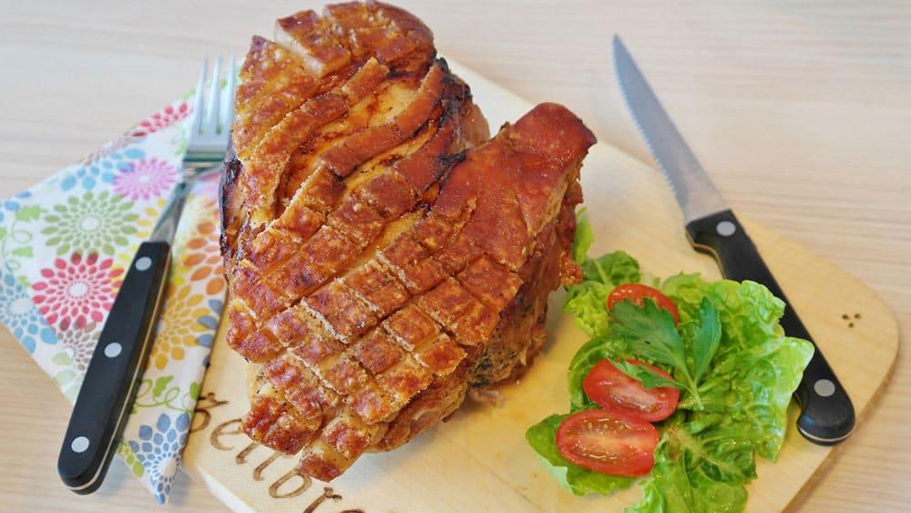 Bertman Boneless Pork with Pretzel Crust and Honey Mustard