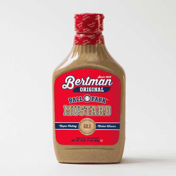 1 Case (12 ea) 16 oz. Gold Medal Label Bertman Original Ball Park Mustard