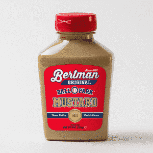 1 Case (12 ea) 9 oz. Bertman Original Ball Park Mustard