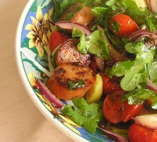 Chicken Sausage-Apple Salad With Caraway Vinaigrette