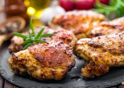 Honey Mustard Baked Chicken Thighs