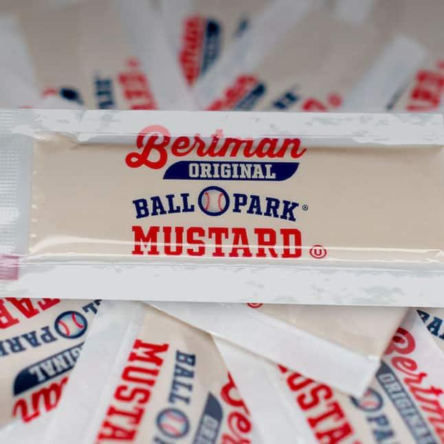 1 Case (500 ea) Bertman Original Ball Park Mustard PC Packets